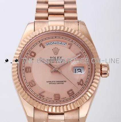 Rolex Day-Date II  Replica Watches Pink Dial RX4129-3