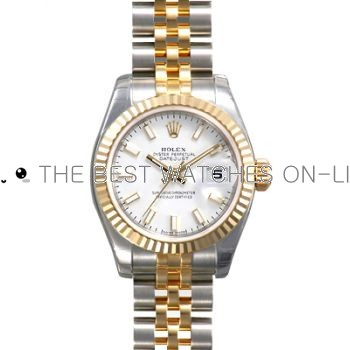 Rolex Datejust 179173 White Dial Ladies Automatic Replica Watch