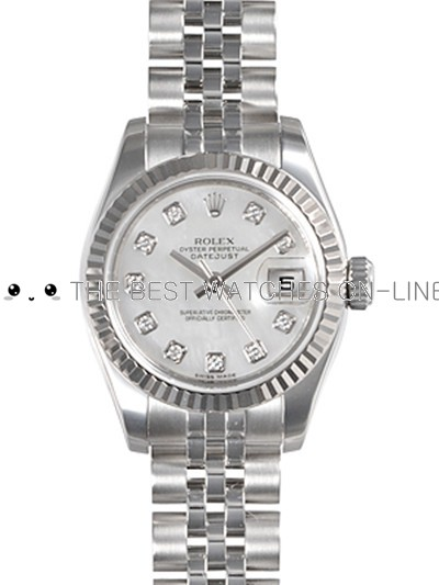 Rolex Oyster Perpetual 179174-NG-63130 White MOP dial Ladies Automatic Replica Watch