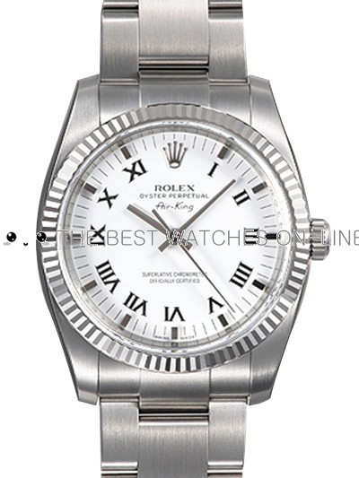 Rolex Air-King 114234-70190 White dial Men Automatic Replica Watch