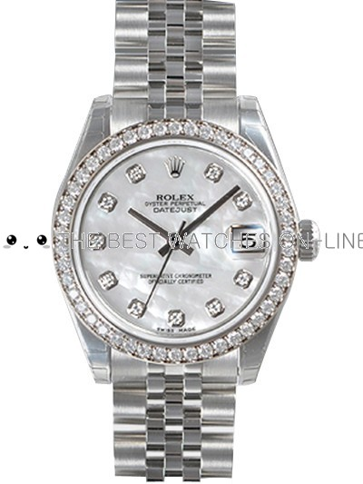 Rolex Oyster Perpetual 178384-NG-63160 White MOP dial Ladies Automatic Replica Watch