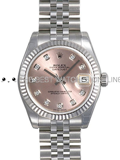 Rolex Datejust 178274-G-63160 Pink dial Ladies Automatic Replica Watch