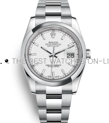 Swiss Rolex Datejust Mens 116200-0058 White Dial Bar-type time markers Automatic Replica Watch