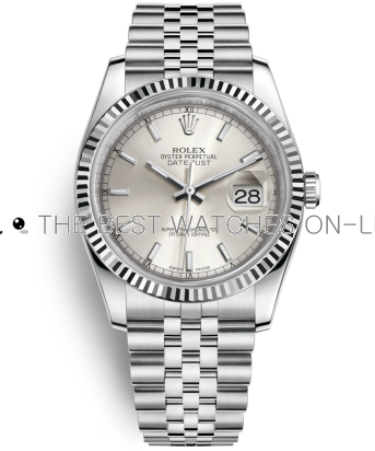 Rolex Datejust Swiss Automatic Watch 116234-0080 Silver Dial 36mm (High End)