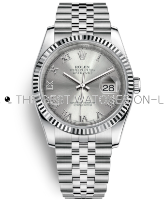 Rolex Datejust Swiss Automatic Watch 116234-0081 Silver Gray Dial 36mm (High End)
