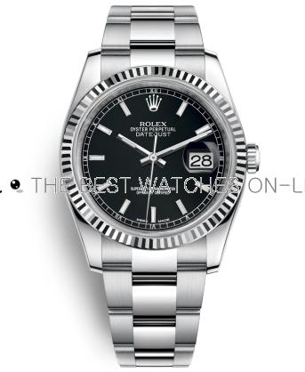 Rolex Datejust Black Dial 116234-0091 36mm