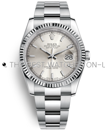 Rolex Datejust Swiss Automatic Watch 116234-0093 Silver Dial 36mm (High End)