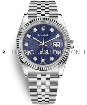 Swiss Rolex Datejust Mens 116234-0110 Blue dial Men Automatic Replica Watch