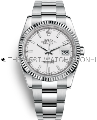 Rolex Datejust Swiss Automatic Watch 116234-0127 White Dial 36mm (High End)