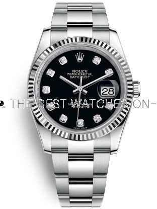 Rolex Datejust Swiss Automatic Watch 116234-0132 Black Dial 36mm (High End)