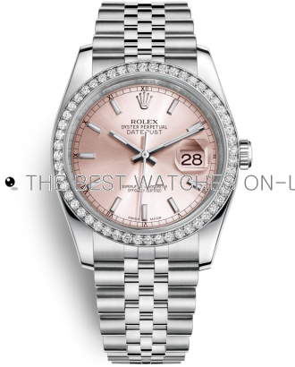 Rolex Datejust Swiss Automatic Watch 116244-0050 Pink Dial 36mm (High End)