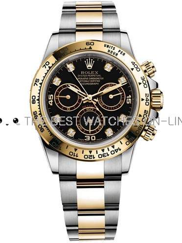 Replica Rolex Daytona Automatic Watch 116523-0043 Black Dial 40mm