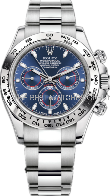 Replica Rolex Daytona Swiss Automatic 116509-0071 Dark Blue Dial 40mm (High End)