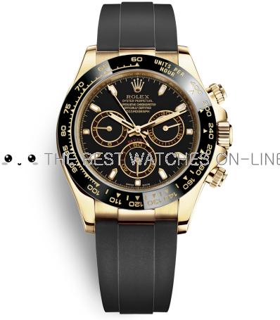 Replica Rolex Daytona Swiss Watches 116518ln-0035 Black Dial 40mm (High End)