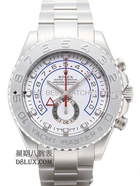 Rolex Yacht-Master II Swiss Replica Watch 116689-0001 White Dial 41mm (High End)