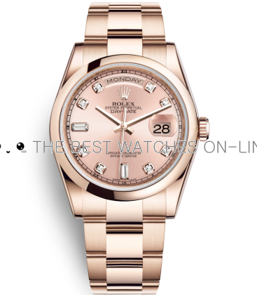 Rolex Day-Date Swiss Automatic Watch 118205F-0061 Rose Gold Dial 36mm (High End)
