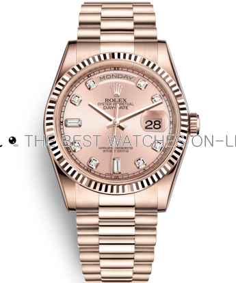 Rolex Day-Date Swiss Automatic Watch 118235F-0029 Rose Gold Dial 36mm (High End)