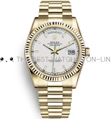 Rolex Day-Date Swiss Automatic Gold Watch 118238-0061 White Dial 36mm (High End)