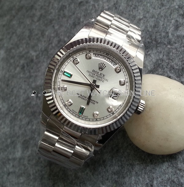 Rolex Day-Date Swiss Automatic Watch 118239-0269 Silver Dial 36mm (High End)
