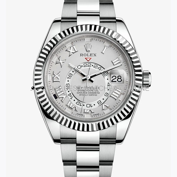 Rolex Sky-Dweller Automatic Replica Watch Silver-White Dial 42mm