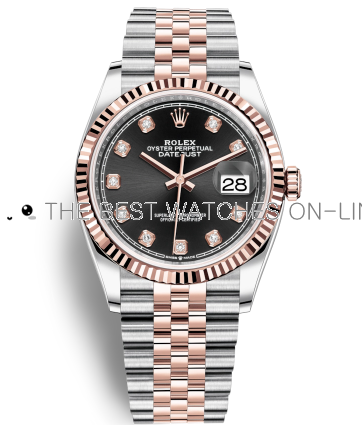 Replica Rolex Datejust Watches Swiss Automatic 126231-0019 Black Dial 36mm (High End)