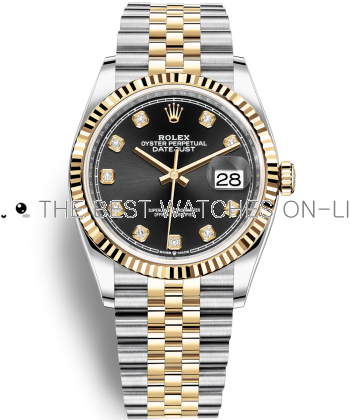 Replica Rolex Datejust Watches Swiss Automatic 126233-0021 Black Dial 36mm (High End)