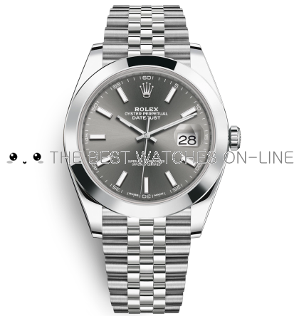 Rolex Datejust II Swiss Replica Watch 126300-0008 Gray Dial 41mm (High End)