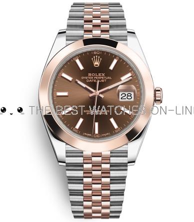 Rolex Datejust II Swiss Replica Watch 126301-0002 Chocolate Dial 41mm (High End)