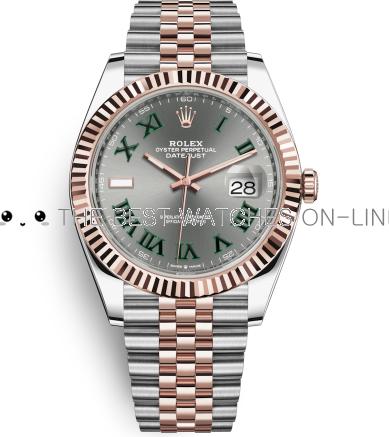 Rolex Datejust II Swiss Replica Watch 126331-0016 Gray Dial 41mm (High End)