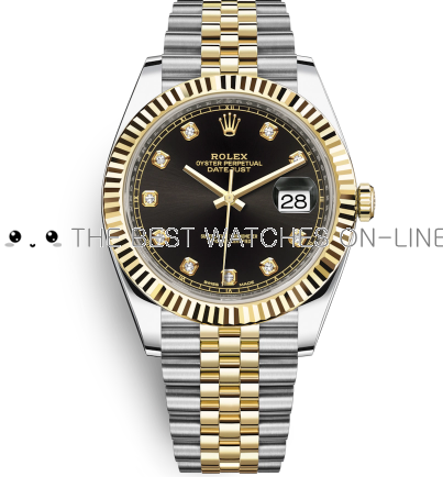 Rolex Datejust II Swiss Replica Watch 126333-0006 Black Dial 41mm (High End)