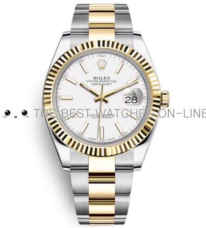 Replica Rolex Datejust II Automatic Two-Tone Watch 126333-0015 White Dial 41mm