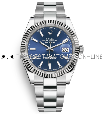 Rolex Datejust II Swiss Replica Watch 126334-0001 Dark Blue Dial 41mm (High End)