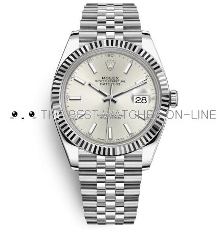 Rolex Datejust II Swiss Replica Watch 126334-0004 Silver Dial 41mm (High End)