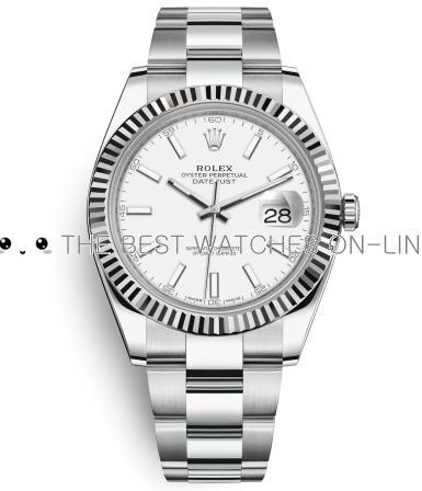 Rolex Datejust II Mens 116334 White dial Bar-type time markers Automatic Replica Watch
