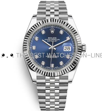 Rolex Datejust II Swiss Replica Watch 126334-0016 Dark Blue Dial 41mm (High End)