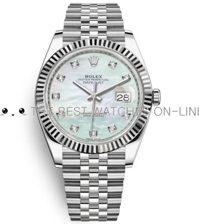 Rolex Datejust II Swiss Replica Watch 126334-0020 MOP Dial 41mm (High End)