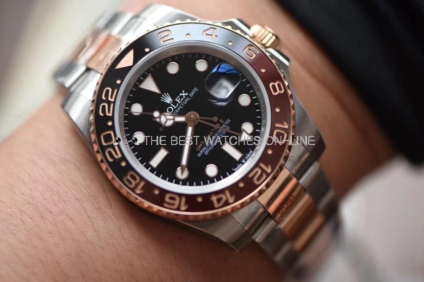 Rolex GMT-Master II Swiss Replica Watch 126711chnr-0002 Black Brown Bezel(Super Model)