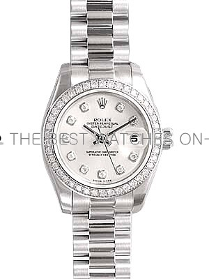 Rolex Oyster Perpetual 179136G-83136 Silver dial Ladies Automatic Replica Watch
