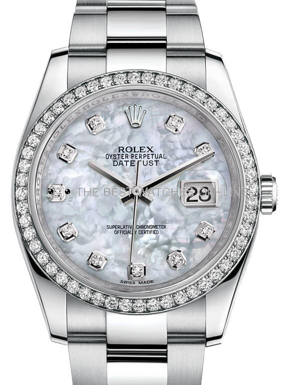 Rolex Datejust Swiss Replica Watch 116244-0020 MOP Dial 36mm (High End)