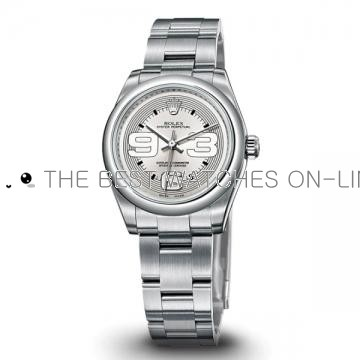 Swiss Rolex Oyster Perpetual 177200 Annular silver dial Ladies Automatic Replica Watch