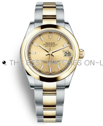 Replica Rolex Datejust Automatic Watch 178243-0008 Gold Dial 31mm