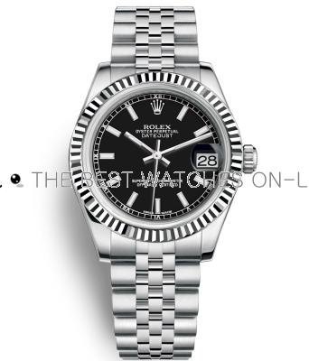Replica Rolex Datejust Automatic Watch 178274-0004 Black Dial 31mm