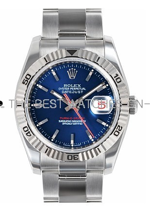 Rolex Oyster Perpetual 116264-63200 Blue Dial Men Automatic Replica Watch