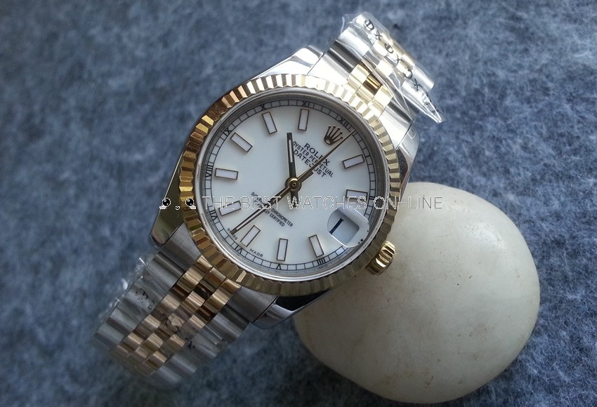 Replica Rolex Datejust 31 Swiss Watches Two-Tone 178273 White Dial (High End)