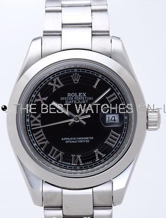 Rolex Datejust II Replica Watches Black Dial RX4118