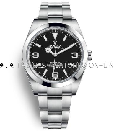 Replica Rolex Explorer Automatic Watch 214270-0003 Black Dial 39mm