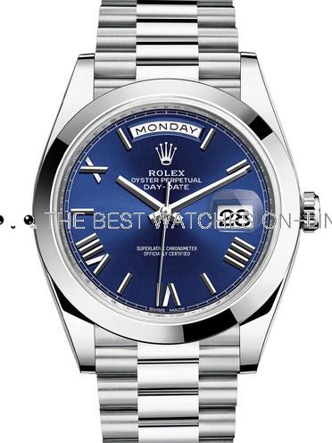 Rolex Day-Date II Swiss Replica Watch 228206-0015 Dark Blue Dial 40mm (High End)