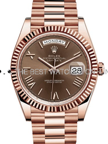 Rolex Day-Date II Swiss Replica Watch 228235-0002 Chocolate Dial 40mm (High End)