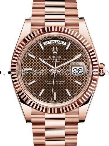 Rolex Day-Date II Swiss Replica Watch 228235-0006 Chocolate Dial 40mm (High End)