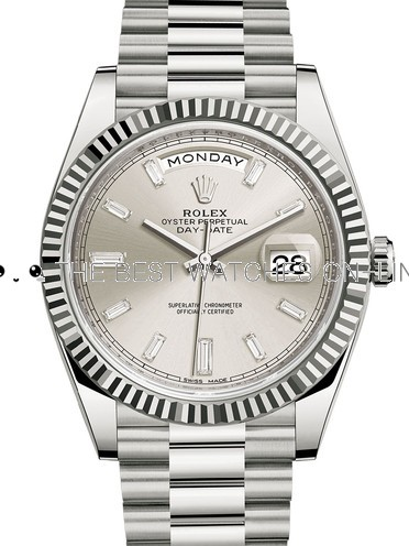 Rolex Day-Date II Swiss Replica Watch 228239-0003 Silver Dial 40mm (High End)